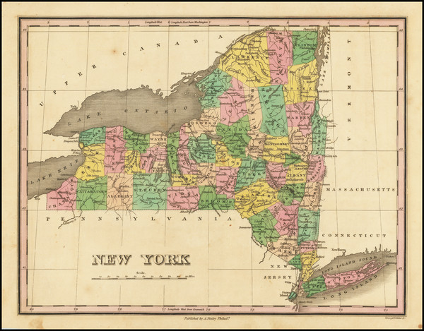 43-New York State Map By Anthony Finley
