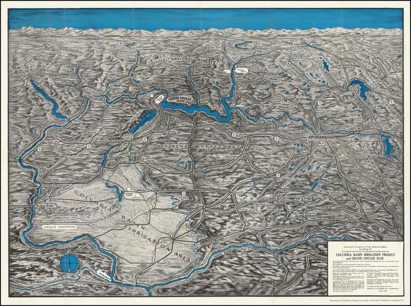 82-Washington Map By Spokane Chamber of Commerce