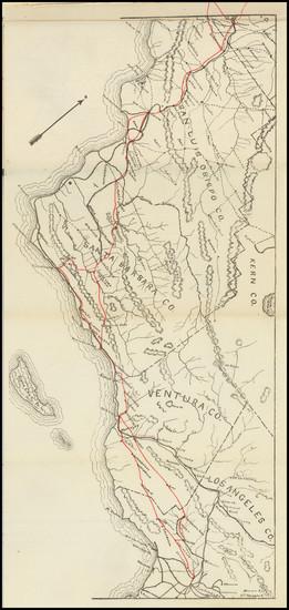 94-California and Rare Books Map By Hancock Bros.