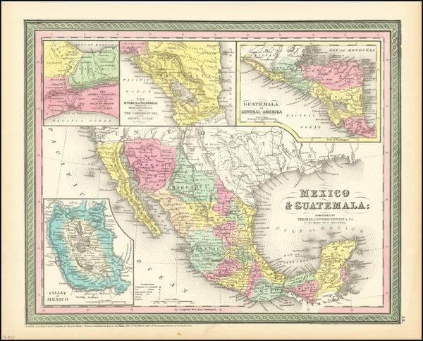23-Texas, Southwest, Mexico and California Map By Thomas, Cowperthwait & Co.