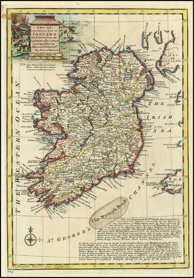 59-Ireland Map By Emanuel Bowen
