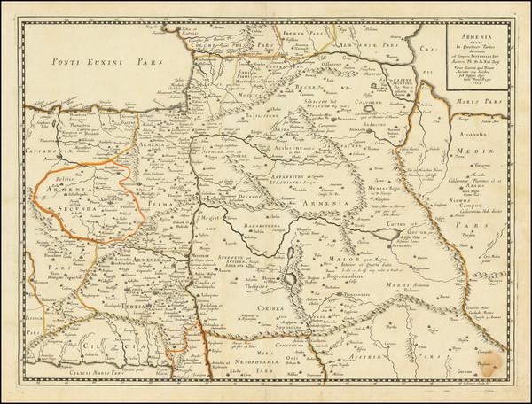 7-Central Asia & Caucasus and Turkey & Asia Minor Map By Philippe de la Rue