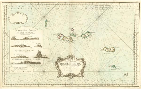 73-Atlantic Ocean and Portugal Map By Depot de la Marine