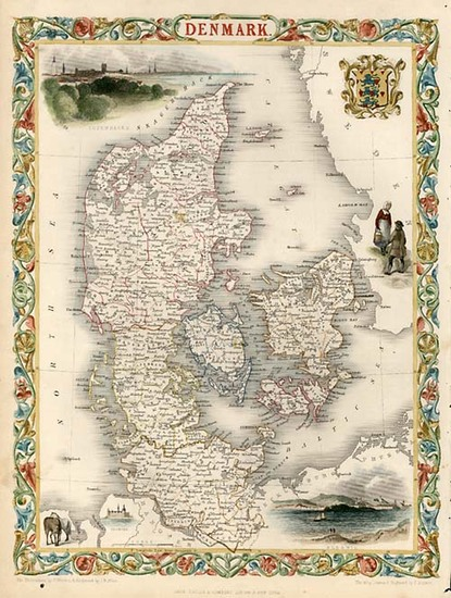 63-Europe and Scandinavia Map By John Tallis