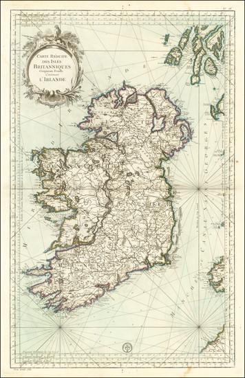 97-Ireland Map By Depot de la Marine
