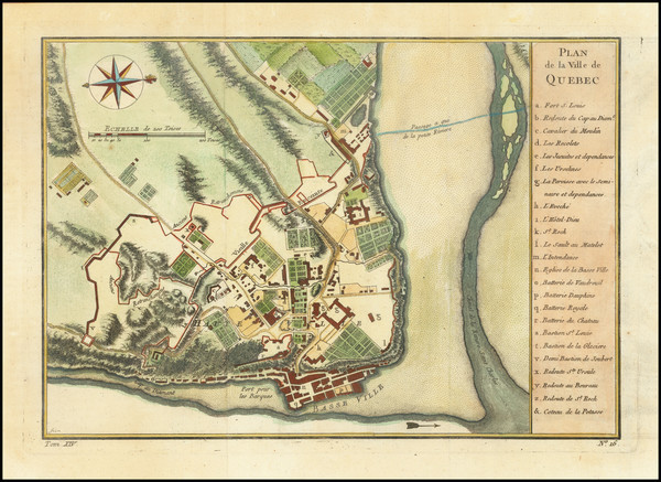 15-Canada and Quebec Map By Jacques Nicolas Bellin