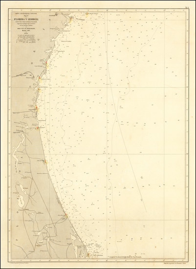 47-Florida and Georgia Map By Direccion Hidrografica de Madrid