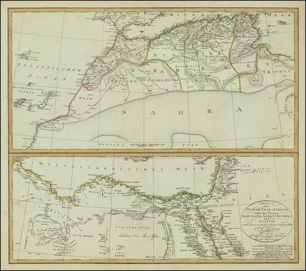 23-North Africa Map By Iohann Matthias Christoph Reinecke