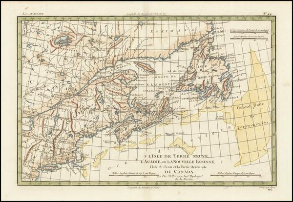 67-New England and Eastern Canada Map By Rigobert Bonne