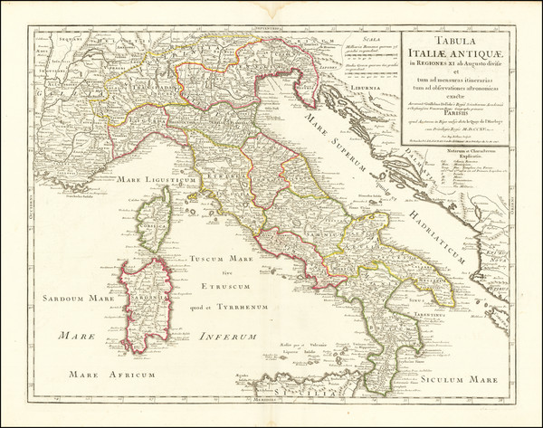 38-Italy Map By Philippe Buache