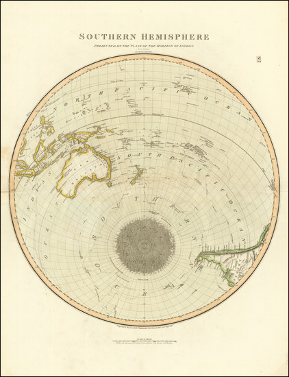 89-Southern Hemisphere, Polar Maps, Australia and Oceania Map By John Thomson
