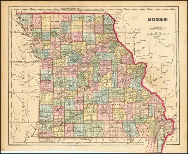 35-Missouri Map By Charles Morse