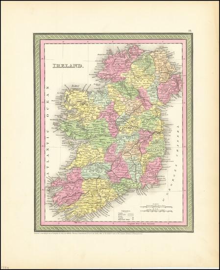 38-Ireland Map By Thomas, Cowperthwait & Co.