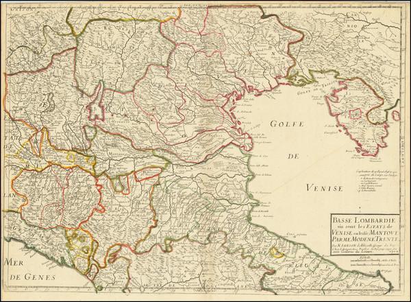 48-Northern Italy Map By Nicolas Sanson