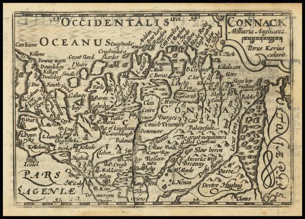 18-Ireland Map By John Speed