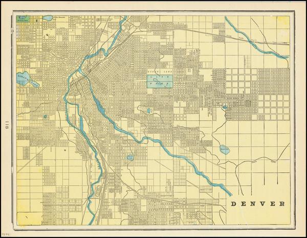 88-Colorado and Colorado Map By George F. Cram