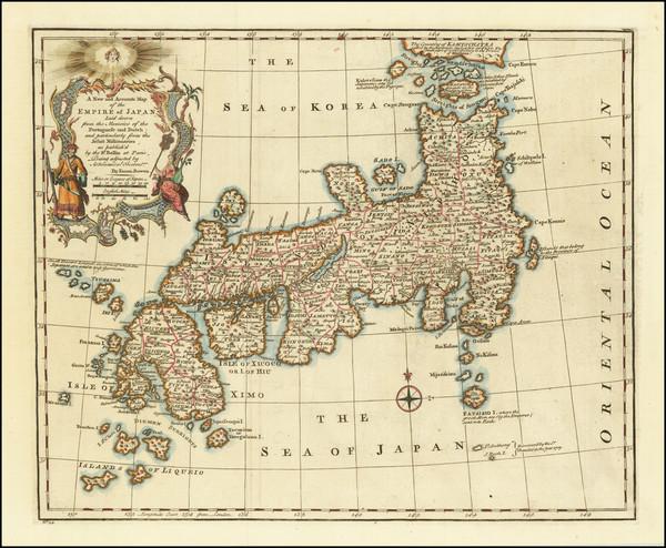 3-Japan Map By Emanuel Bowen