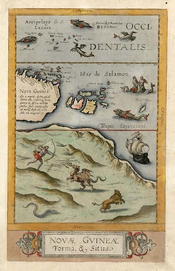 73-Asia, Southeast Asia, Australia & Oceania, Australia and Oceania Map By Cornelis de Jode