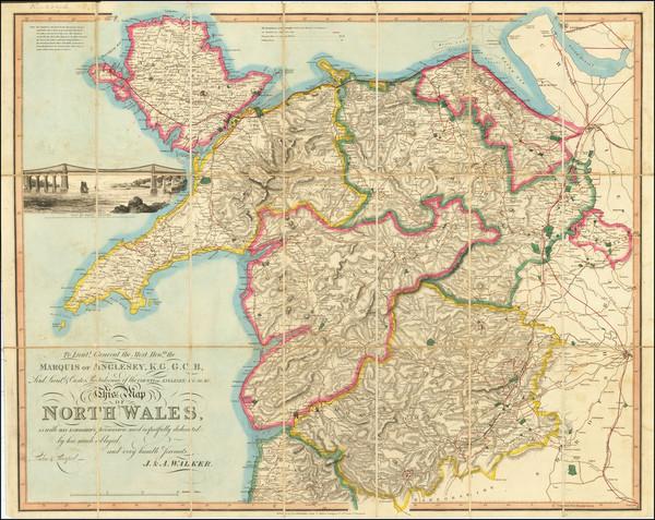 23-Wales Map By John & Alexander Walker