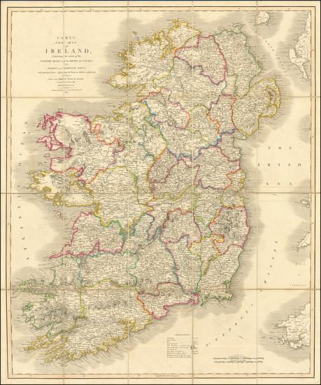 86-Ireland Map By John Cary