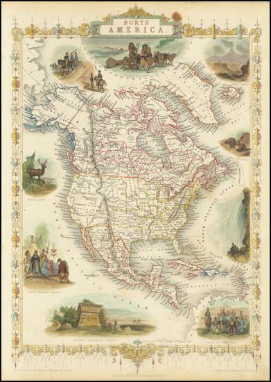 95-North America Map By John Tallis