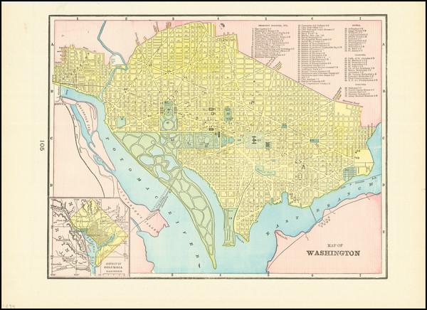 93-Washington, D.C. Map By George F. Cram