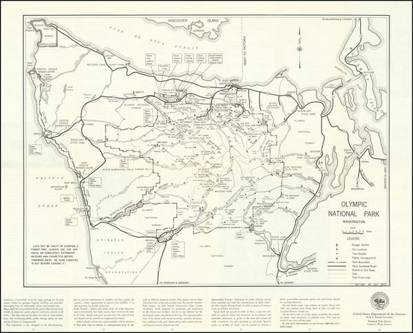 26-Washington Map By United States Department of the Interior