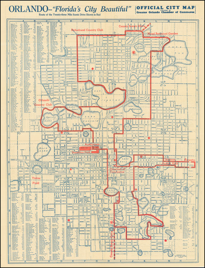 78-Florida Map By Orlando Chamber of Commerce