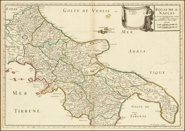 28-Southern Italy Map By Nicolas Sanson