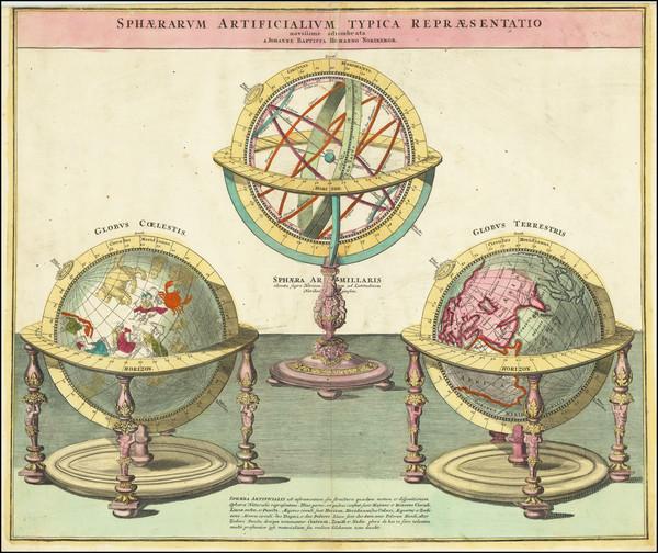 80-World and Celestial Maps Map By Johann Baptist Homann