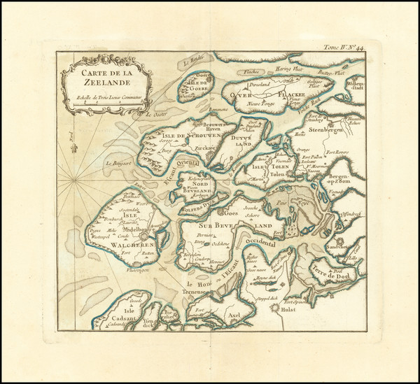 6-Netherlands Map By Jacques Nicolas Bellin