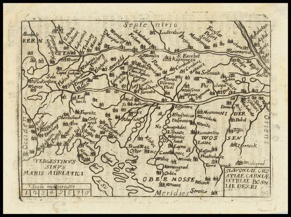 21-Austria and Balkans Map By Abraham Ortelius