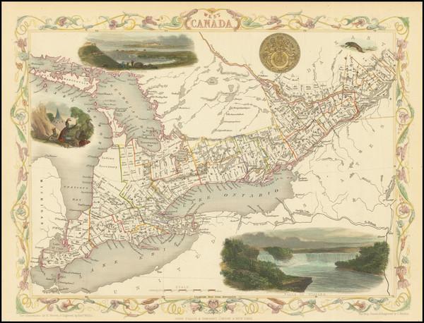 92-Eastern Canada Map By John Tallis