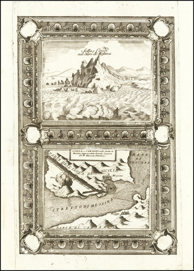 45-Sicily Map By Vincenzo Maria Coronelli