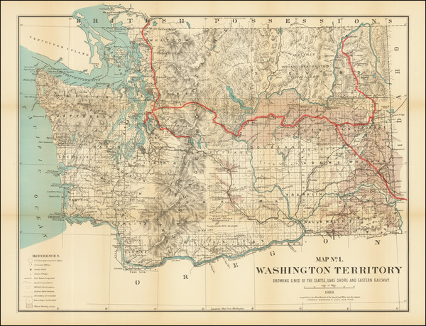 6-Washington Map By Flemming, Brewster & Alley