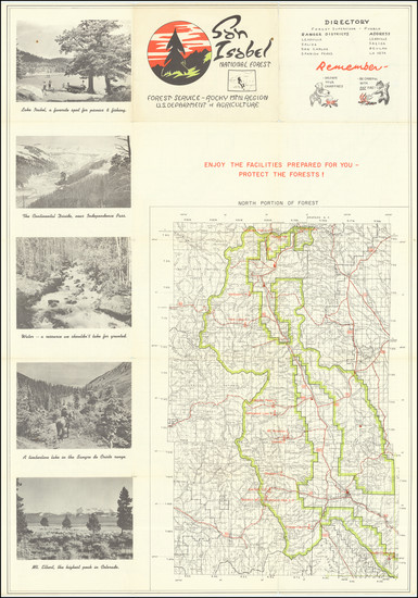 7-Colorado Map By United States Forest Service