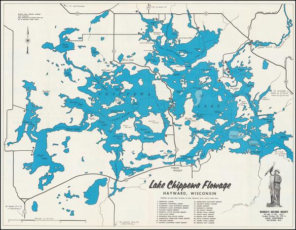 84-Wisconsin Map By Lake Chippewa Association