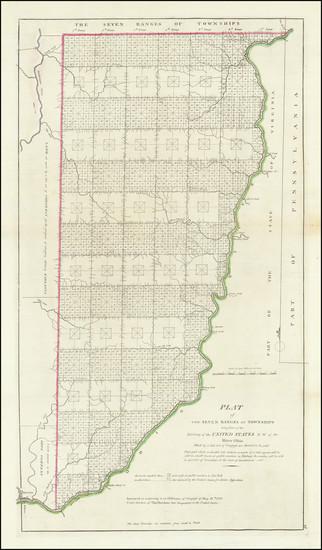 80-Ohio Map By Mathew Carey
