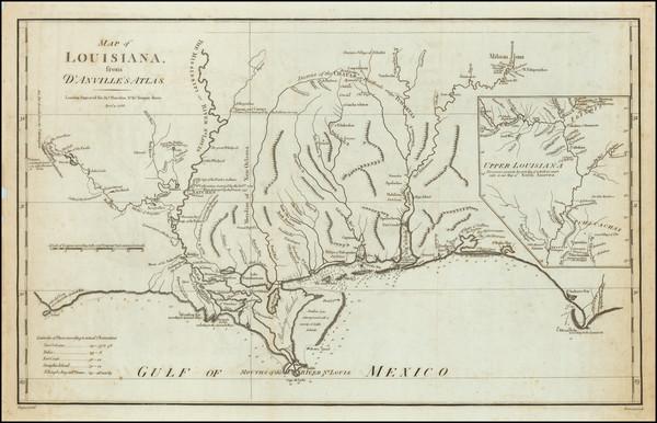 11-Louisiana, Alabama and Mississippi Map By John Harrison / Thomas Bowen