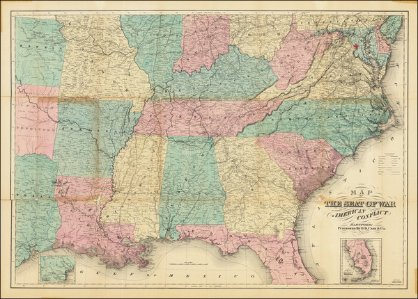 51-United States Map By O. D. Case