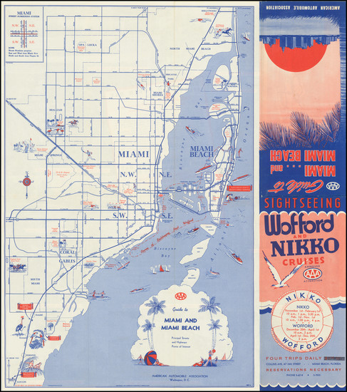 12-Florida Map By American Automobile Association