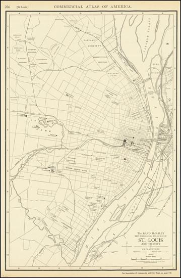 72-Missouri Map By Rand McNally & Company