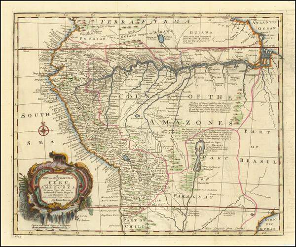 96-Brazil, Paraguay & Bolivia and Peru & Ecuador Map By Emanuel Bowen
