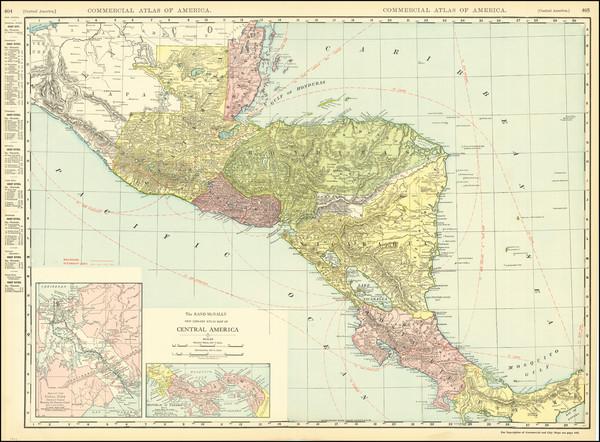 30-Central America Map By Rand McNally & Company