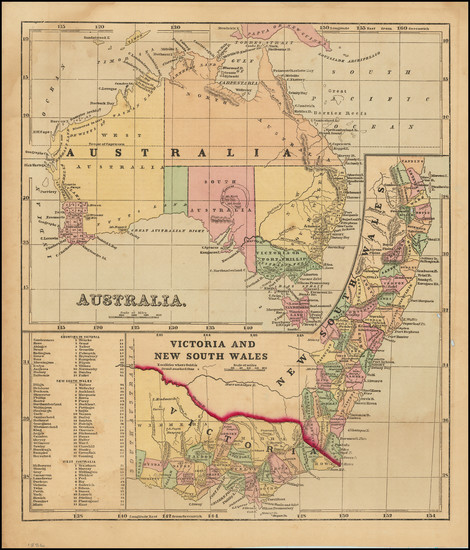 76-Australia Map By Sidney Morse
