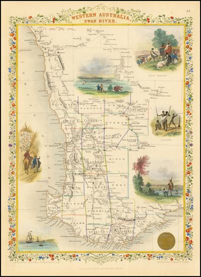 67-Australia Map By John Tallis
