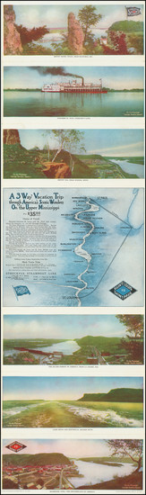 93-Minnesota and Missouri Map By The Streckfus Steamboat Line