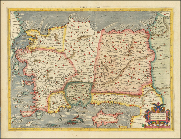 55-Turkey and Turkey & Asia Minor Map By  Gerard Mercator