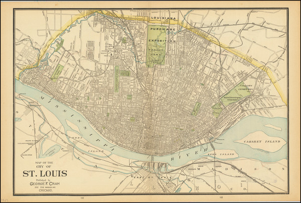 44-Missouri Map By George F. Cram