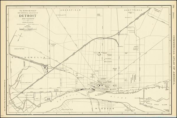 31-Michigan Map By Rand McNally & Company